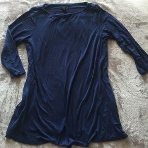 J. Jill S Blue Tunic Half Sleeve Top